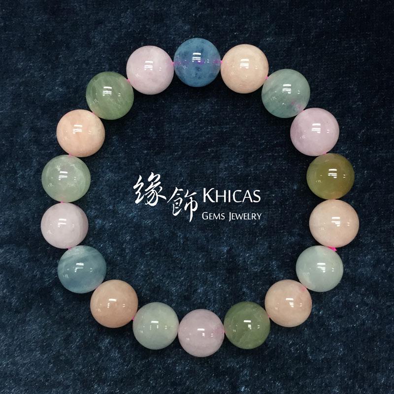 巴西 2A+ 彩色海藍寶手串 11mm Morganite KH141828 @ Khicas Gems 緣飾