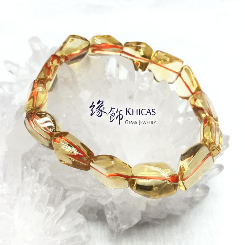 5A+ 巴西黃晶不定形手串 13mm Citrine KH141833 @ Khicas Gems 緣飾