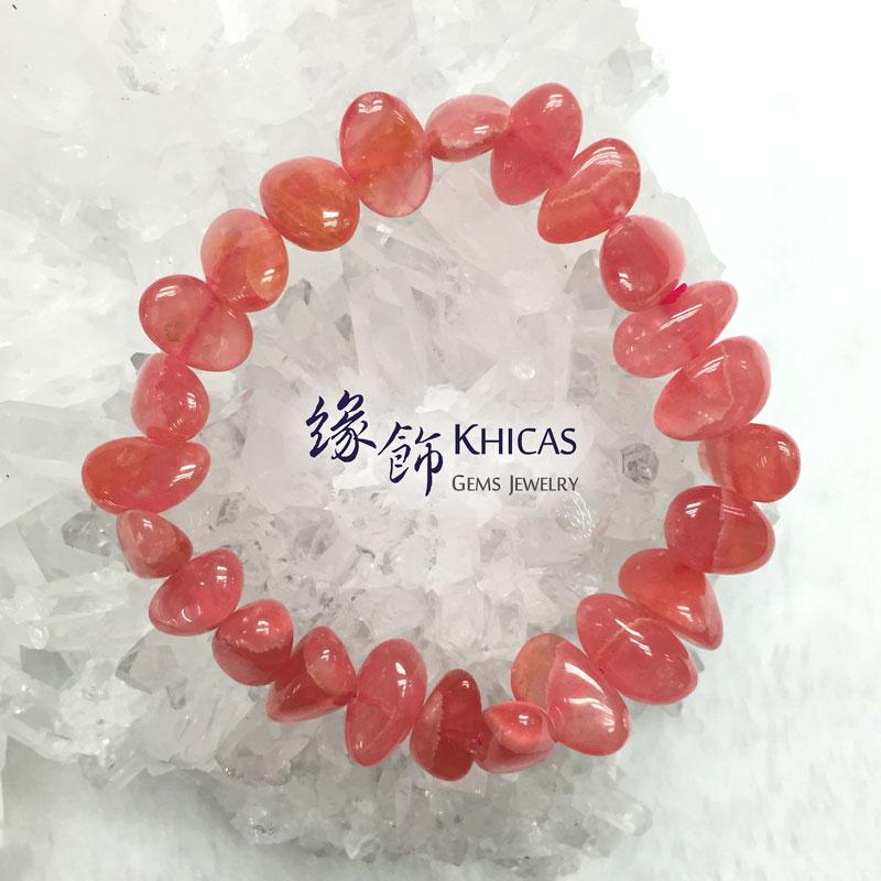 3A+ 阿根廷紅紋石不定形手串 KH141834 Khicas Gems 緣飾