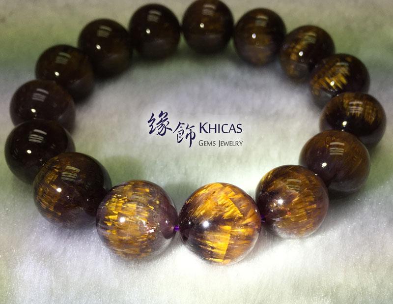 巴西 5A+ 紫鈦晶手串 14.5mm KH141850 @ Khicas Gems 緣飾