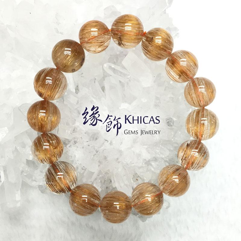 2A+ 巴西銅髮晶手串 13.5mm KH141888 @ Khicas Gems 緣飾