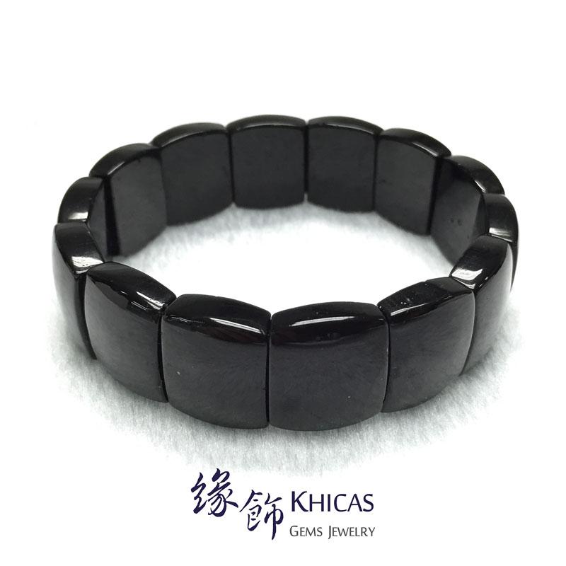 巴西黑碧璽手排 18x15x6.5mm KH141908 @ Khicas Gems 緣飾