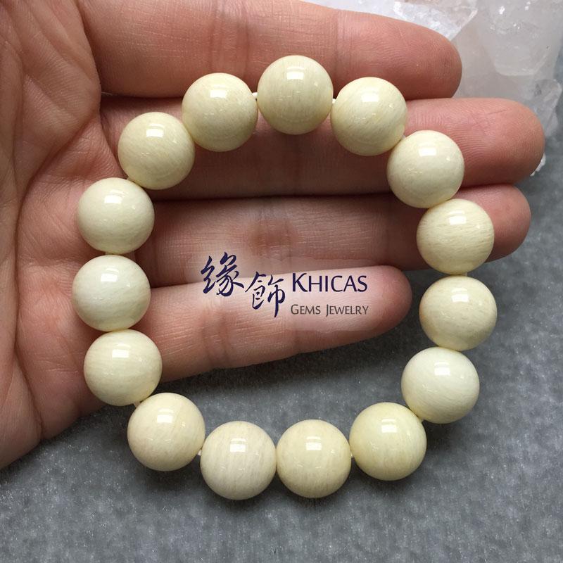 加拿大 3A+ 黃天河石手串 12.7mm Amazonite KH141929 Khicas Gems 緣飾