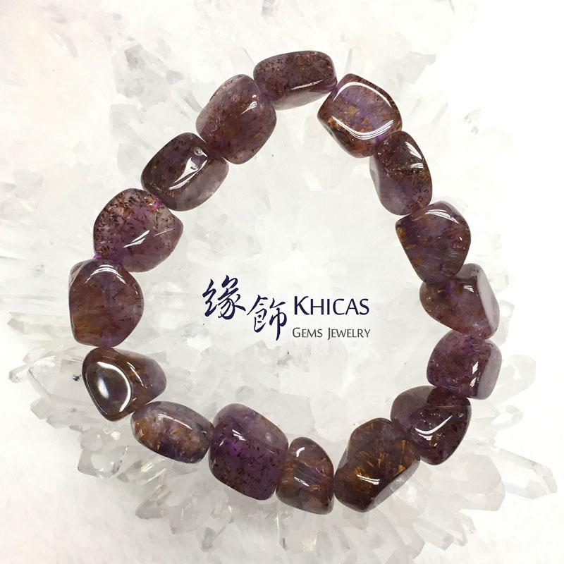 巴西 4A+ 紫鈦晶不定形手串 ~13mm KH141931 @ Khicas Gems 緣飾