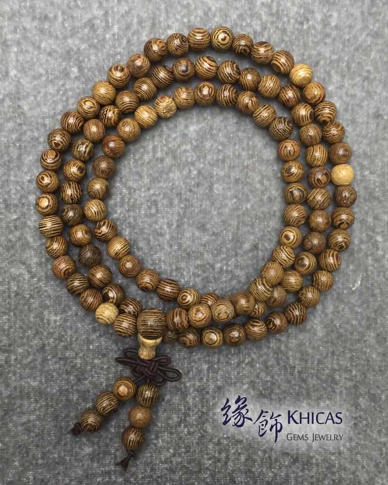 雞翅木 108 念珠手串 6mm KH141938 Khicas Gems 緣飾