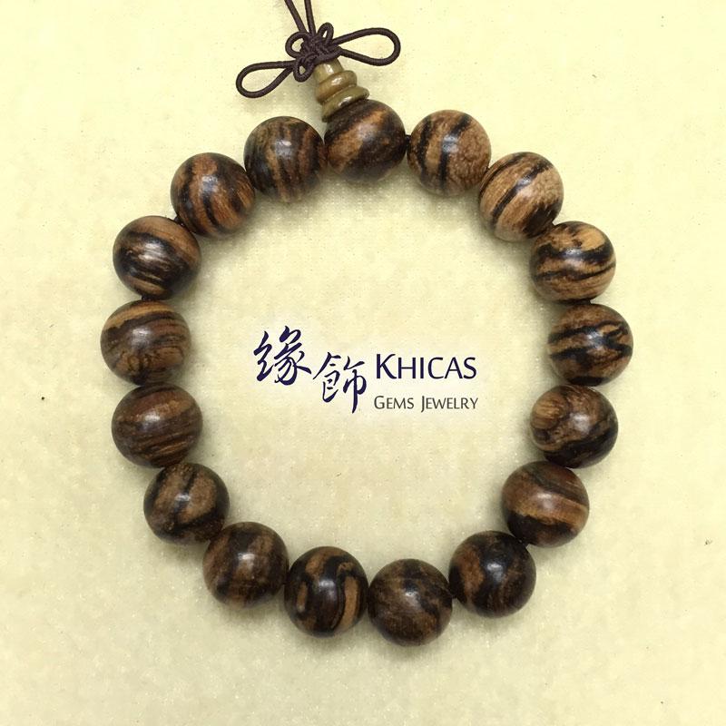 印尼虎斑紋花奇楠沉香手串 12mm Agilawood KH141964 Khicas Gems 緣飾