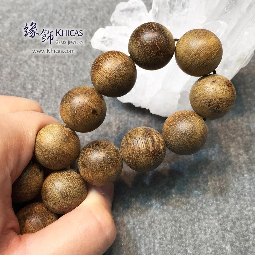 印尼加里曼丹沉香圓珠手串 18.5mm Agilawood KH141995 @ Khicas Gems Jewelry 緣飾天然水晶
