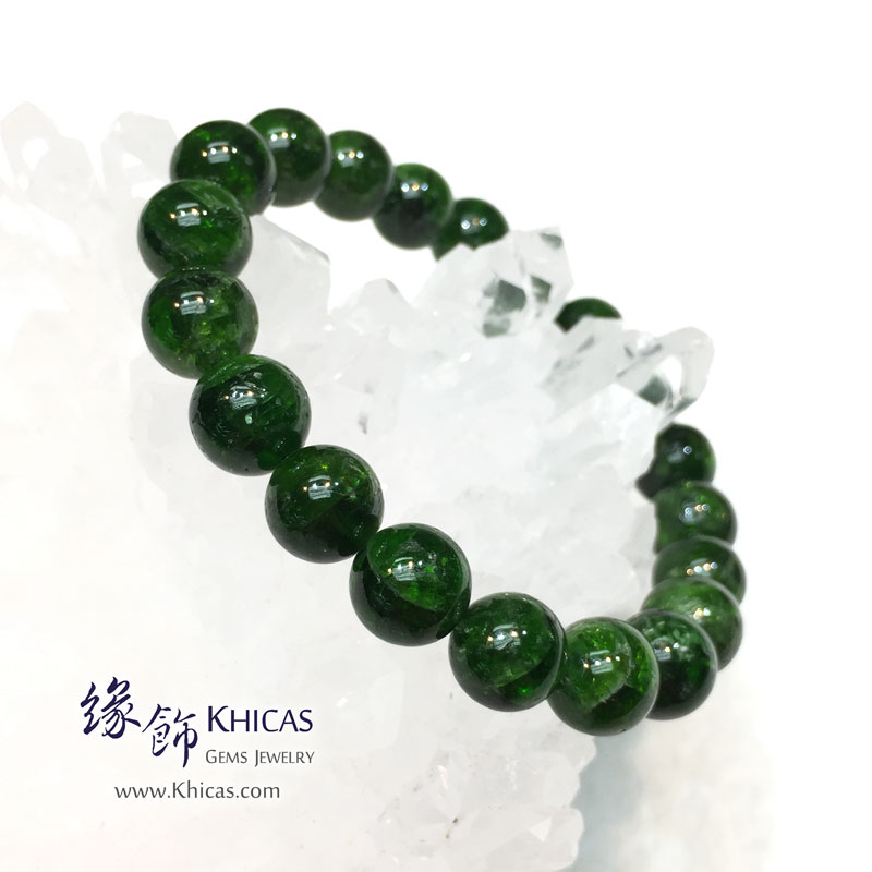 巴西 5A+ 綠透輝石手串 9.8mm Diopside KH142011 @ Khicas Gems 緣飾