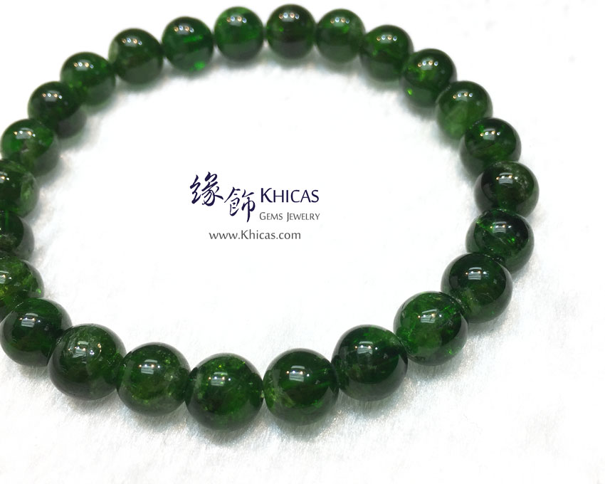 巴西 5A+ 綠透輝石手串 7.7mm Diopside KH142013 @ Khicas Gems 緣飾