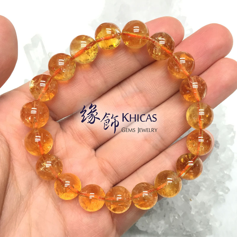 巴西 3A+ 黃晶手串 10.5mm Citrine KH142024 @ Khicas Gems 緣飾