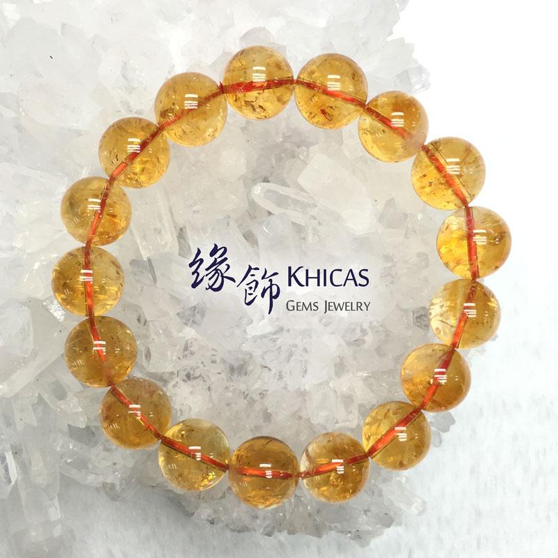 巴西 3A+ 黃晶手串 12mm Citrine KH142025 @ Khicas Gems 緣飾
