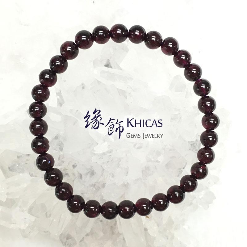 印度 4A+ 紫石榴石手串 5.5mm Garnet KH142054 @ Khicas Gems 緣飾