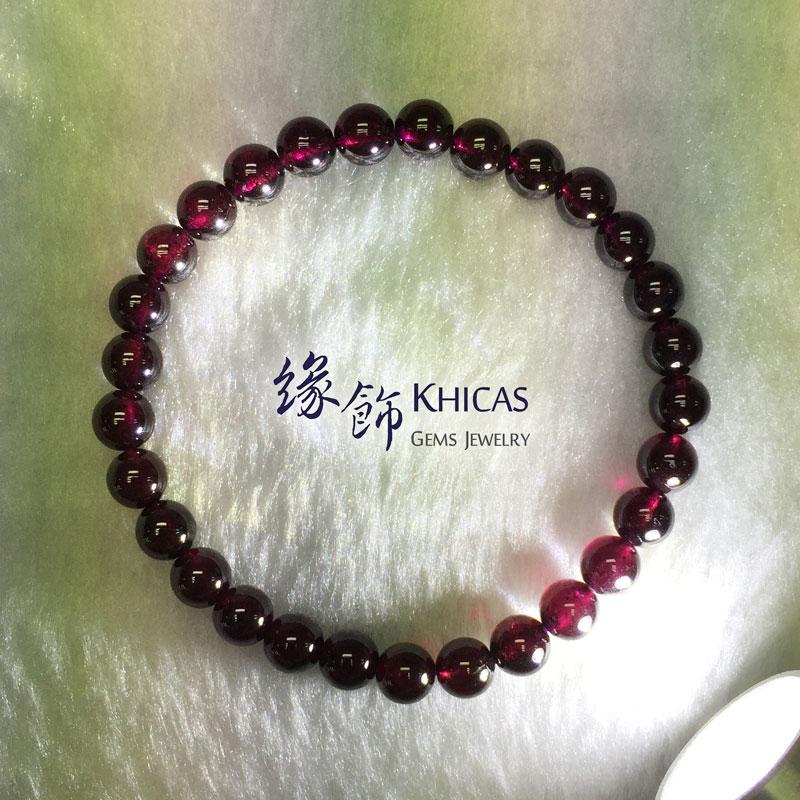 印度 4A+ 紫石榴石手串 6mm Garnet KH142055 @ Khicas Gems 緣飾