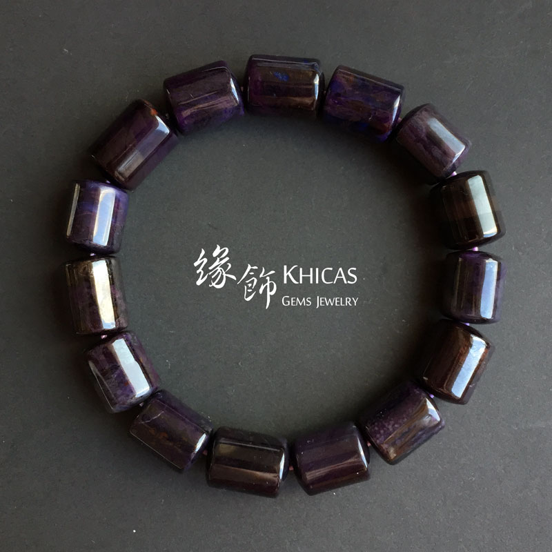南非舒俱徠桶珠手串 10.5mm Sugilite KH142059 @ Khicas Gems 緣飾