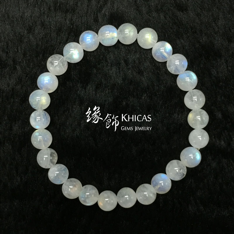 巴西 3A+ 月亮石手串 7mm MoonStone KH142062 Khicas Gems 緣飾