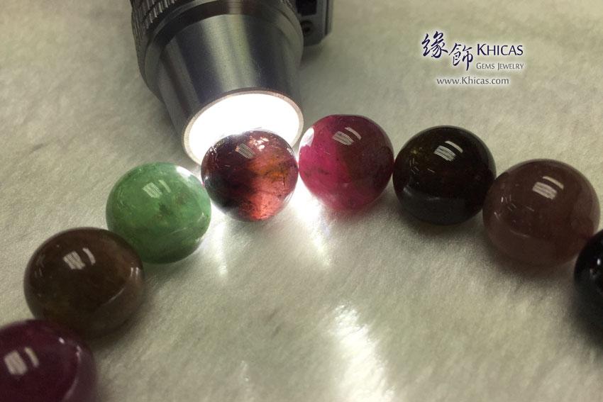 巴西 4A+ 彩碧璽手串 14.3mm Tourmaline KH142077 @ Khicas Gems 緣飾
