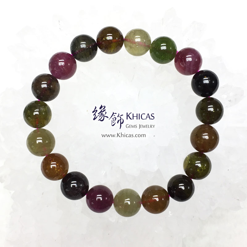 巴西 5A+ 彩碧璽手串 10.3mm Tourmaline KH142078 @ Khicas Gems 緣飾