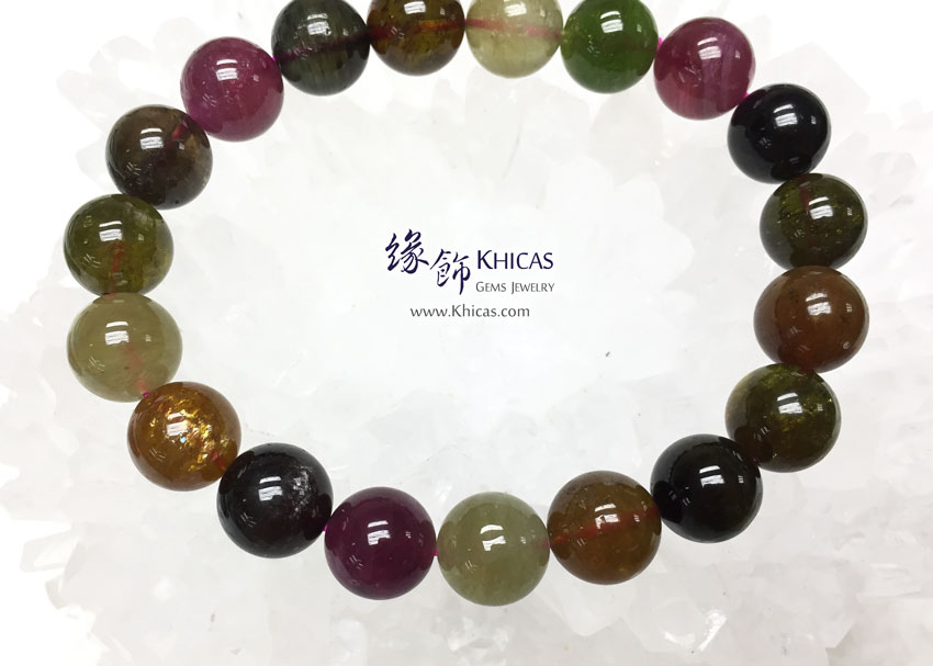 巴西 4A+ 彩碧璽手串 10.3mm Tourmaline KH142078 @ Khicas Gems 緣飾