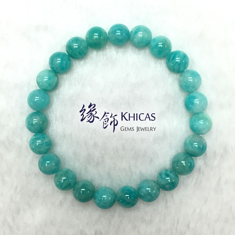 莫桑比亞 4A+ 天河石手串 8mm Amazonite KH142086 Khicas Gems 緣飾