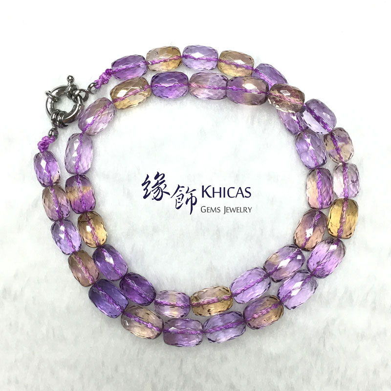 5A+ 紫黃晶切割面桶珠項鍊 9x13mm Ametrine Necklace KH142097 @ Khicas Gems 緣飾