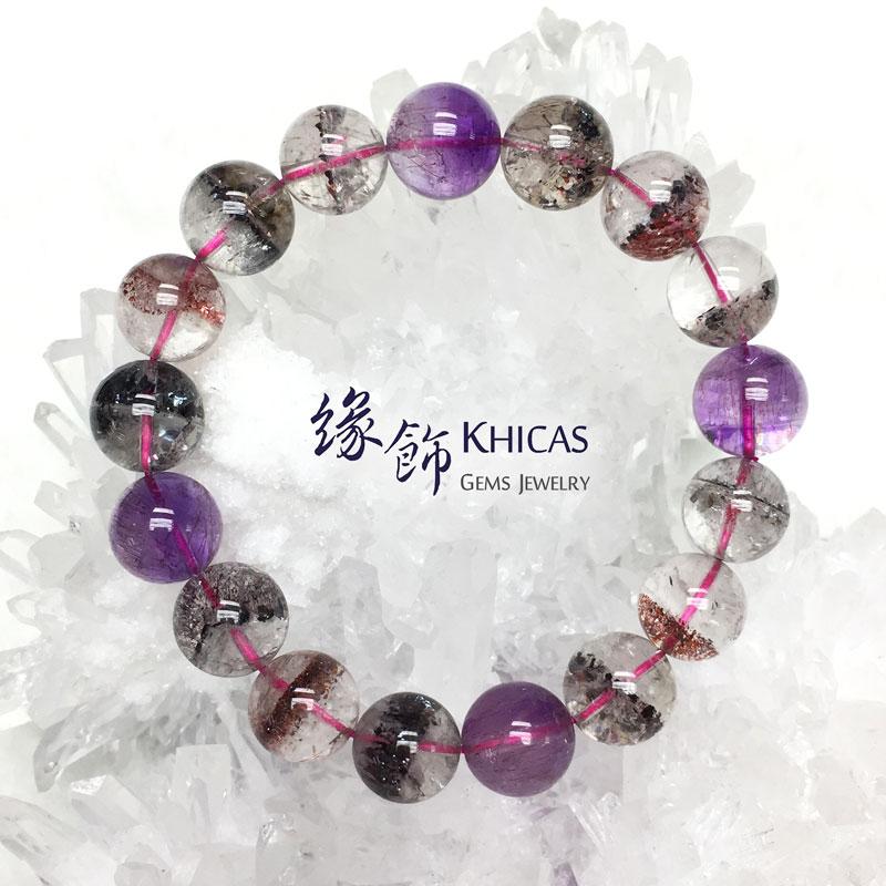 5A+ 巴西三輪骨幹 超級七 Super7 手串 12.3mm KH142110 @ Khicas Gems 緣飾