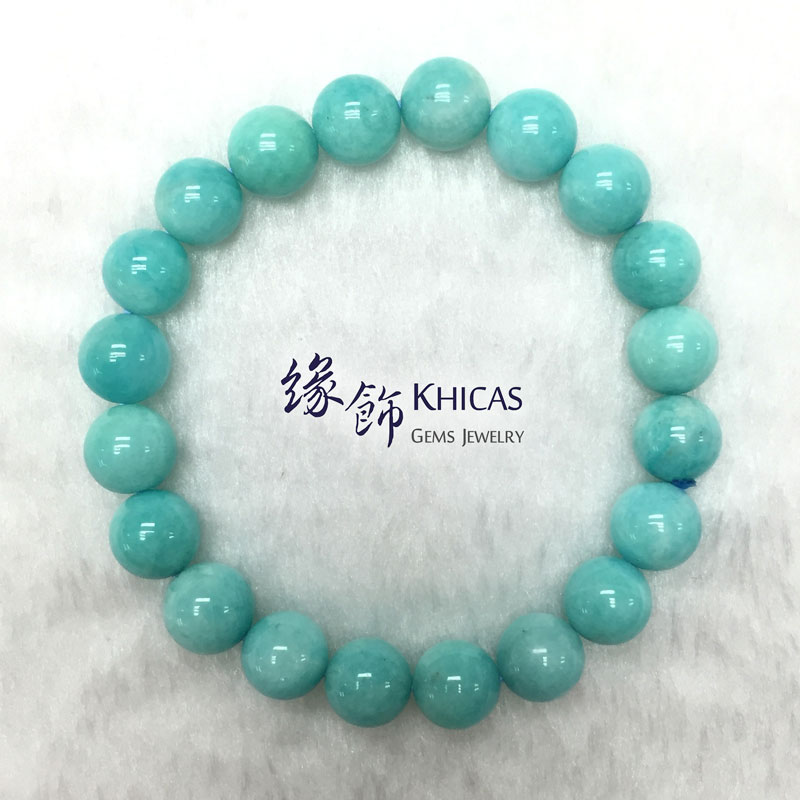 莫桑比亞 3A+ 天河石手串 9mm Amazonite KH142151 Khicas Gems 緣飾