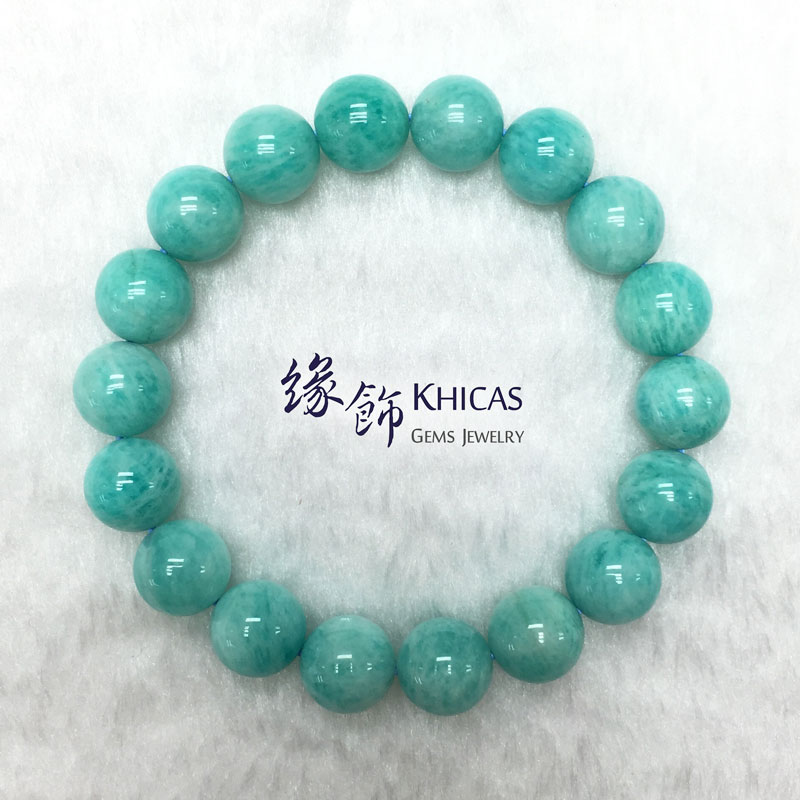 莫桑比亞 3A+ 天河石手串 10.5mm Amazonite KH142153 Khicas Gems 緣飾