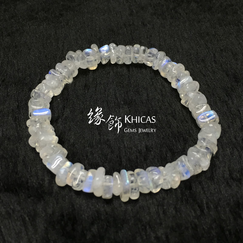巴西 3A+ 月亮石不定形手串 7mm MoonStone KH142154 Khicas Gems 緣飾