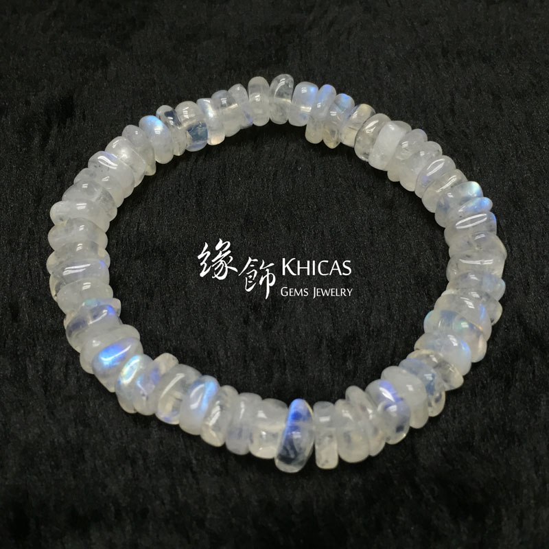 巴西 3A+ 月亮石不定形手串 8mm MoonStone KH142155 Khicas Gems 緣飾