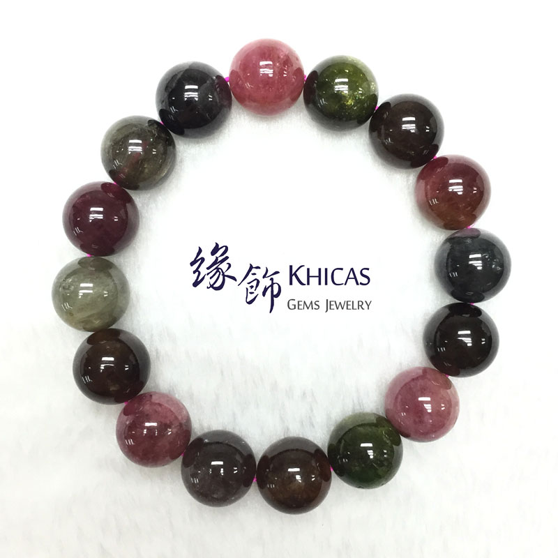巴西 4A+ 彩碧璽手串 13.8mm Tourmaline KH142156 @ Khicas Gems 緣飾