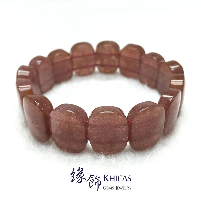俄羅斯草莓晶手排 17x12x6mm KH142191 @ Khicas Gems 緣飾