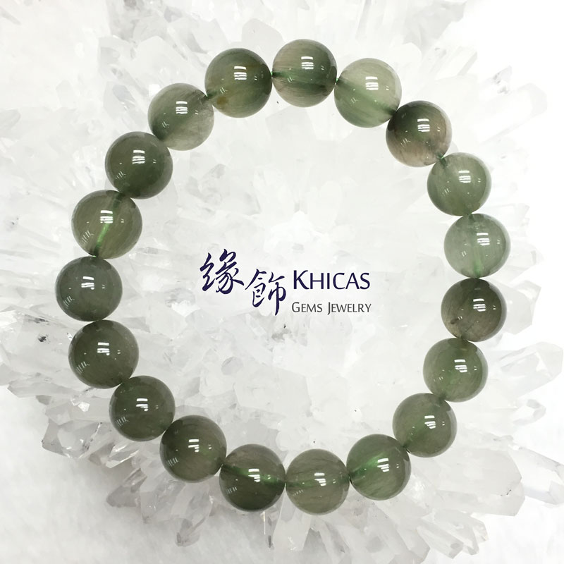 巴西 3A+ 兔毛綠髮晶手串 10.5mm Green Rutilated Quartz KH142199 @ Khicas Gems 緣飾