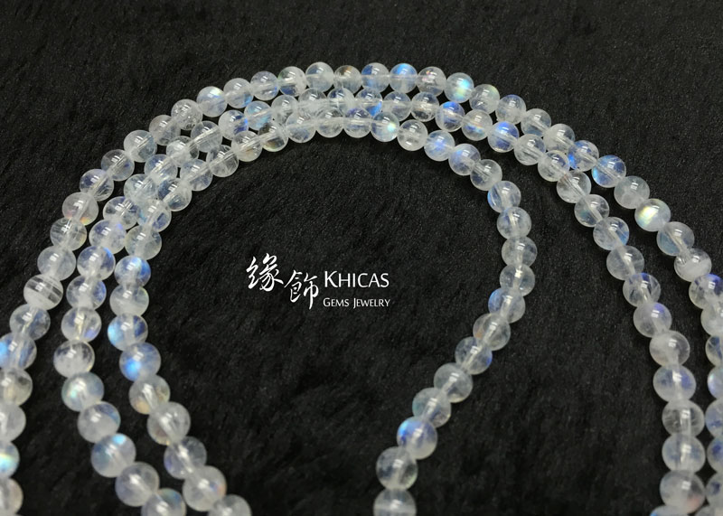 巴西 5A+ 月亮石四圈手串 4.5mm MoonStone KH142210 Khicas Gems 緣飾
