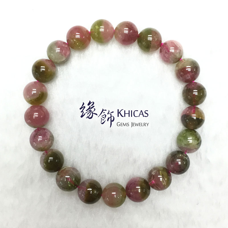巴西 5A+ 西瓜碧璽手串 9mm Watermelon Tourmaline KH142242 @ Khicas Gems 緣飾