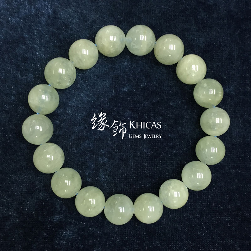 巴西3A+ 蘋果綠色摩根石手串 11mm Morganite KH142265 @ Khicas Gems 緣飾