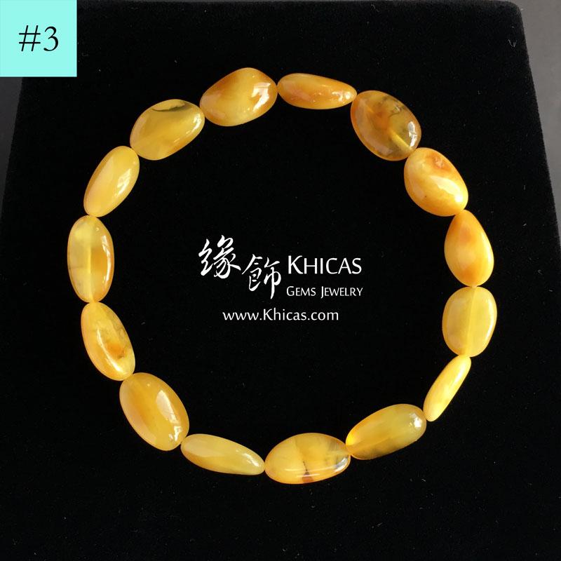 波羅的海 雞油黃蜜蠟不定形手串 Amber Bracelets KH142266 @ Khicas Gems 緣飾天然水晶