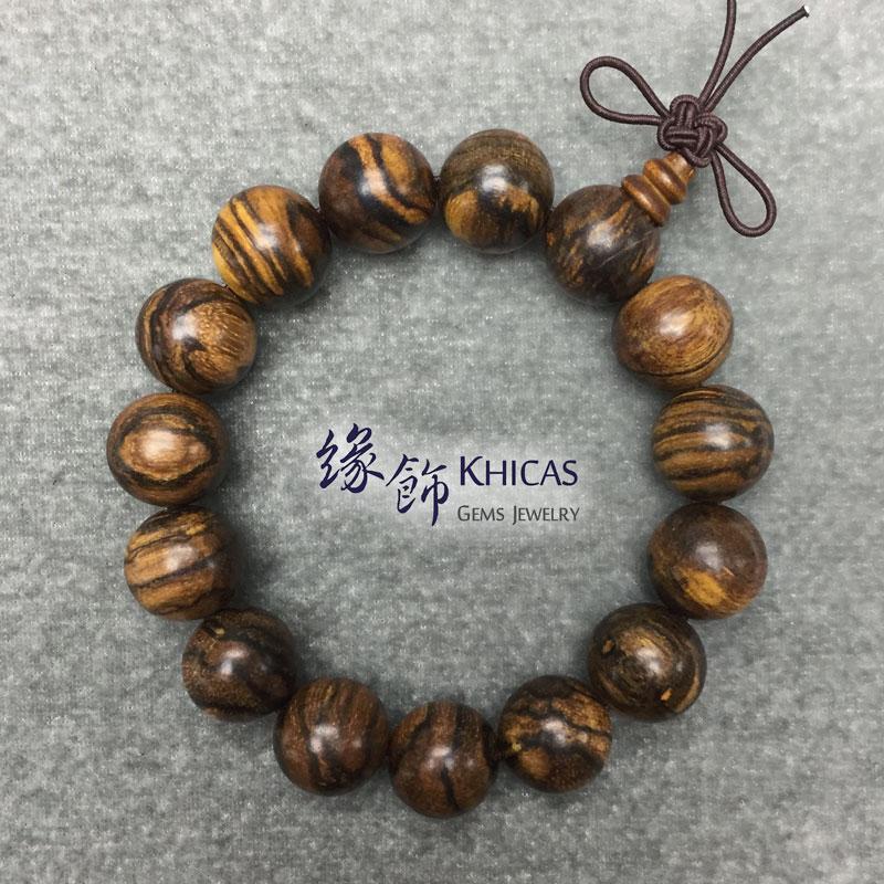 印尼虎斑紋花奇楠沉香手串 15mm Agilawood KH142277 Khicas Gems 緣飾