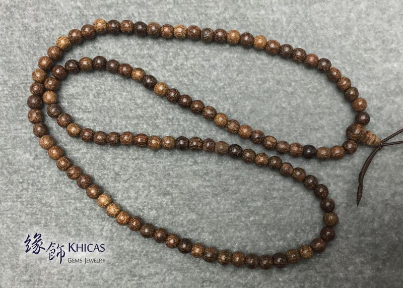 印尼土沉香 108 念珠手串 6mm Agilawood KH142278 Khicas Gems 緣飾