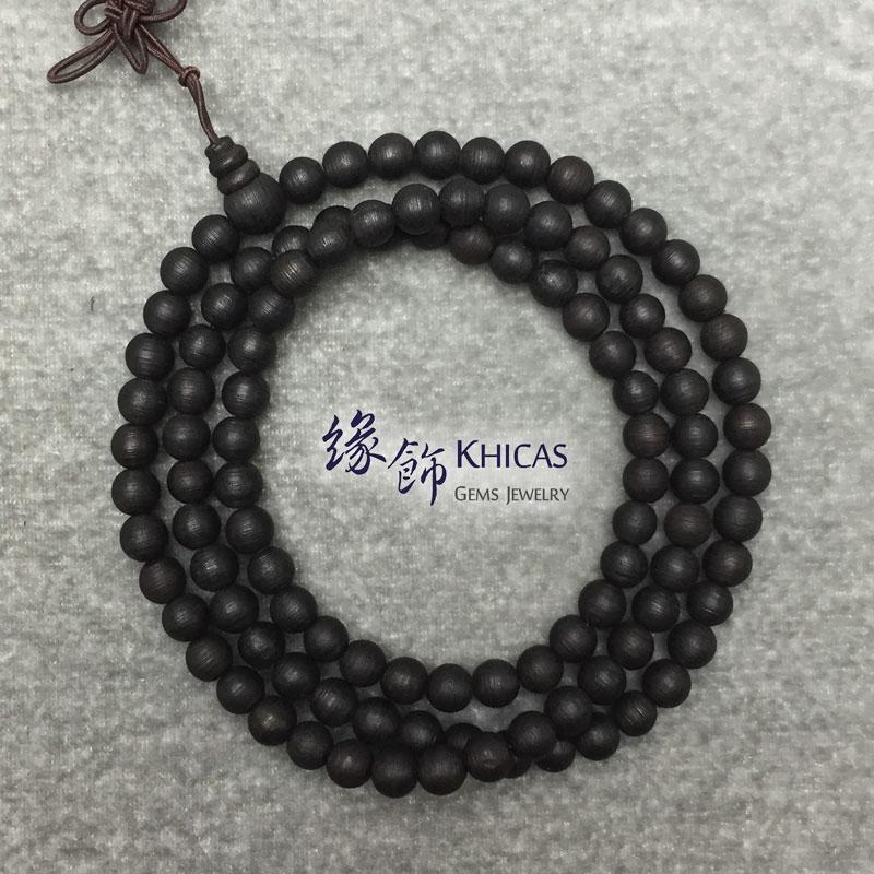 印尼水沉香 108 念珠手串 6mm Agilawood KH142279 Khicas Gems 緣飾