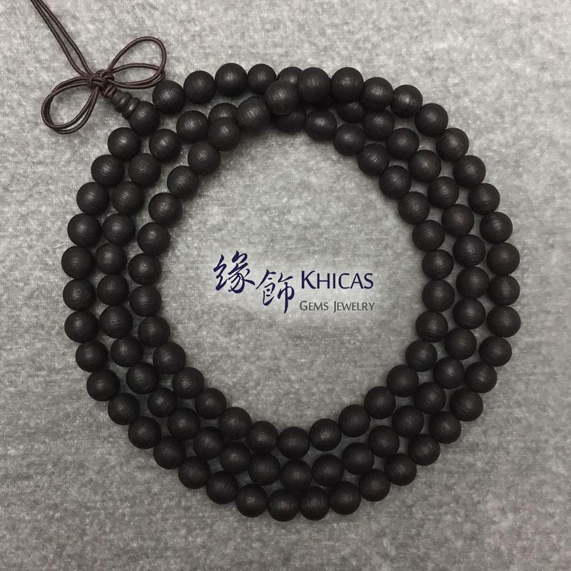 印尼水沉香 108 念珠手串 8mm Agilawood KH142280 Khicas Gems 緣飾