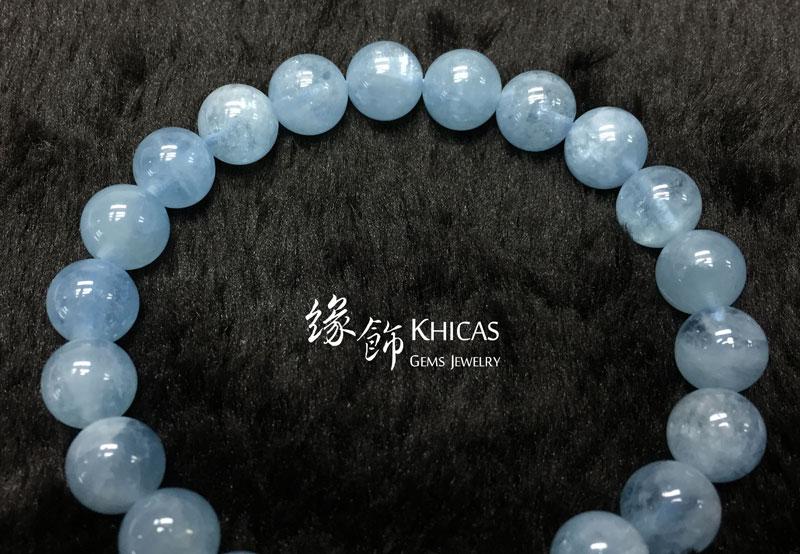 巴西 5A+ 貓眼海藍寶手串 8.5mm Aquamarine KH142318 @ Khicas Gems 緣飾