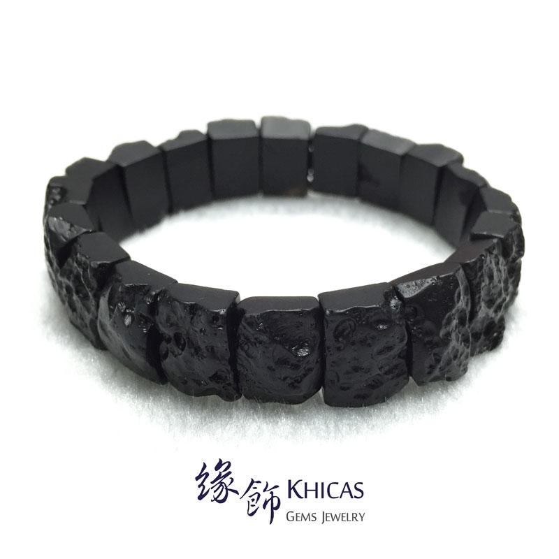 黑隕石手排 15x10x7.5mm Tektite bracelet KH142336 @ Khicas Gems 緣飾