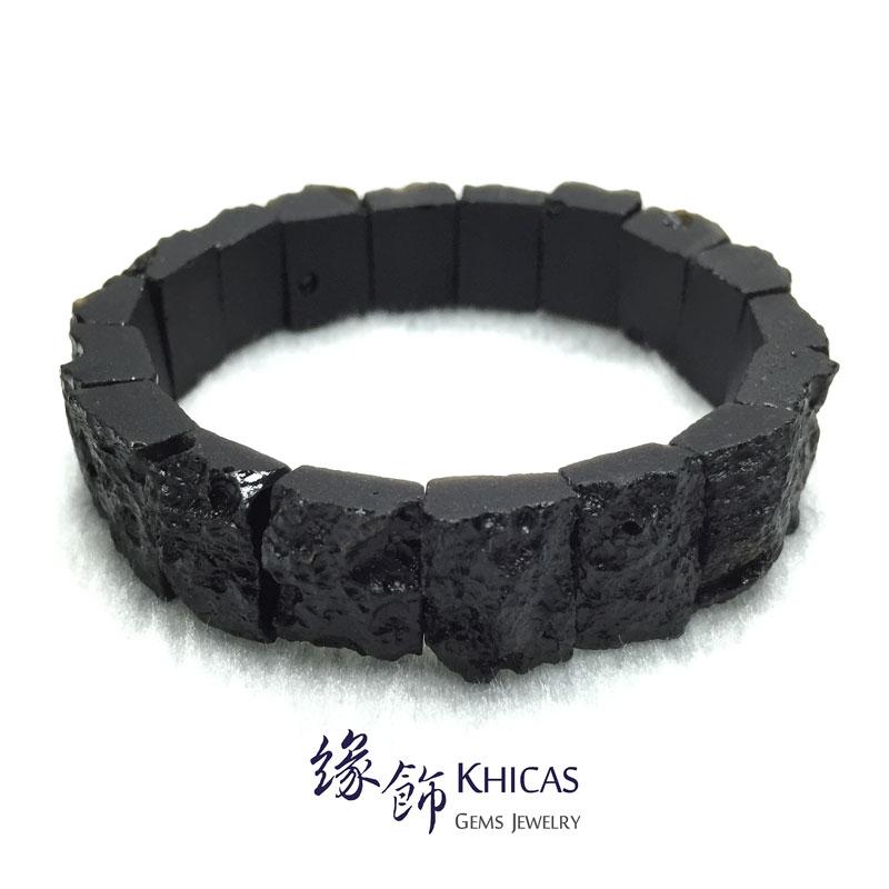 黑隕石手排 16x12x8mm Tektite bracelet KH142337 @ Khicas Gems 緣飾
