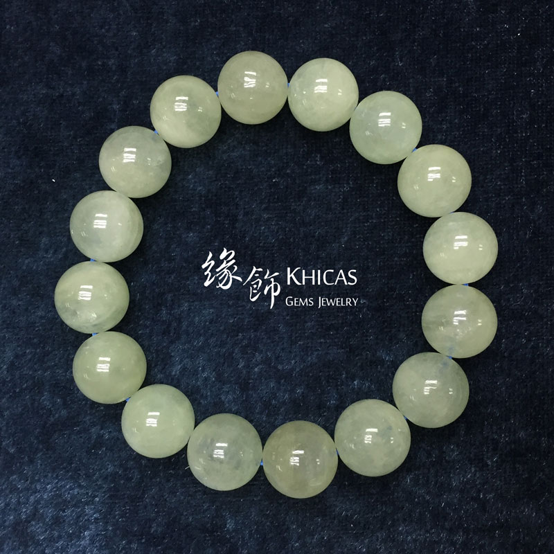 巴西 3A+ 綠色摩根石 / 綠柱石手串 13mm Morganite KH142365 @ Khicas Gems 緣飾