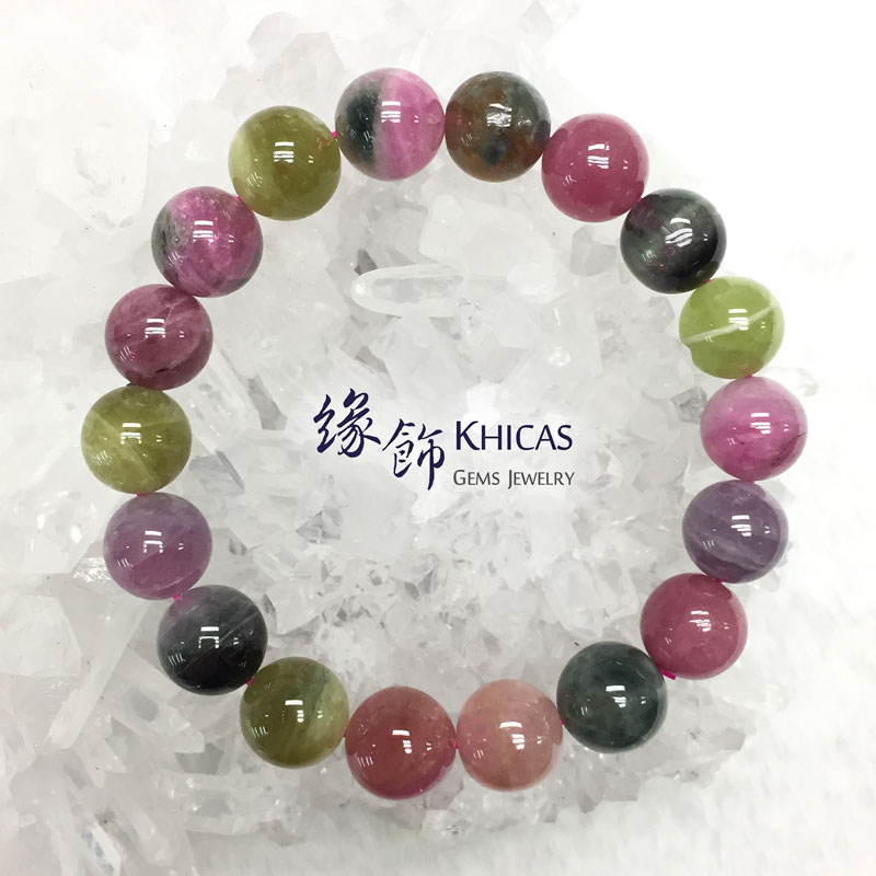 阿富汗 5A+ 糖果碧璽手串 11mm Tourmaline KH142473 @ Khicas Gems 緣飾