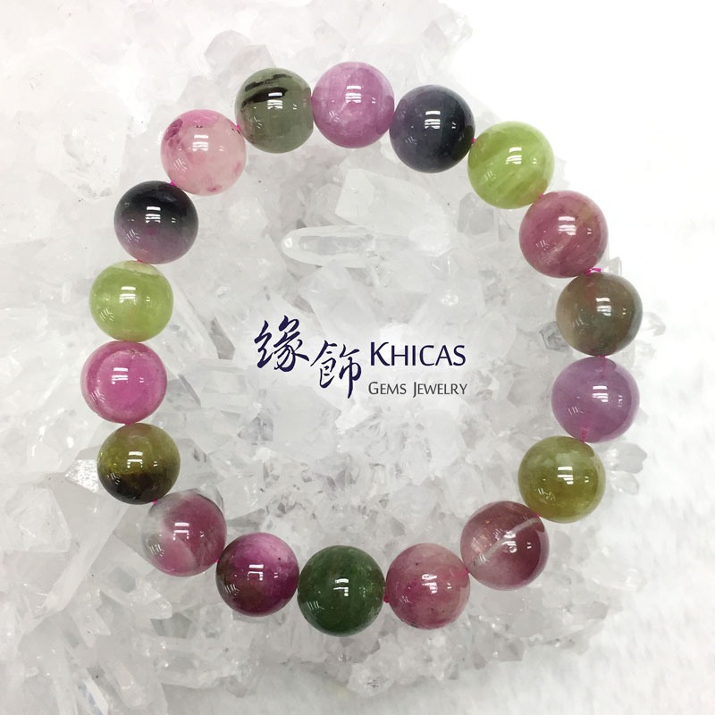 阿富汗 5A+ 糖果碧璽手串 11mm Tourmaline KH142474 @ Khicas Gems 緣飾