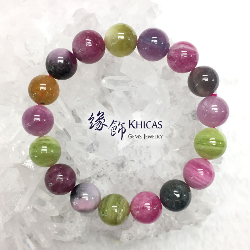 阿富汗 5A+ 糖果碧璽手串 12mm Tourmaline KH142481 @ Khicas Gems 緣飾
