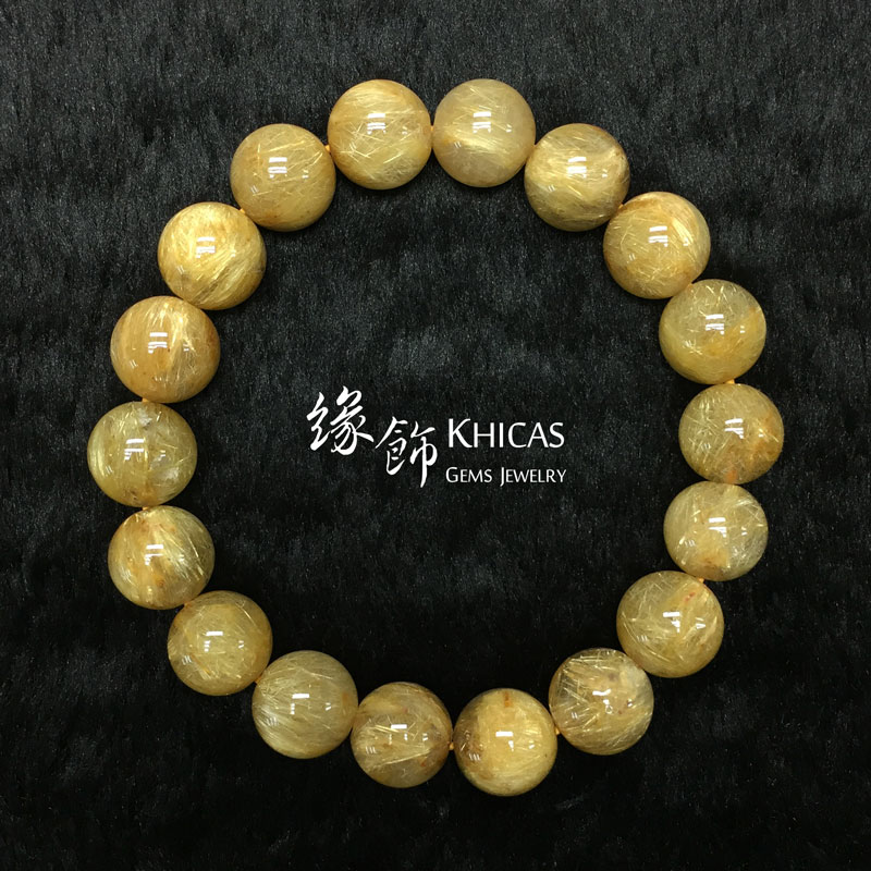 巴西 5A+ 金鈦晶手串 11.8mm Gold Rutilated KH142485 @ Khicas Gems 緣飾