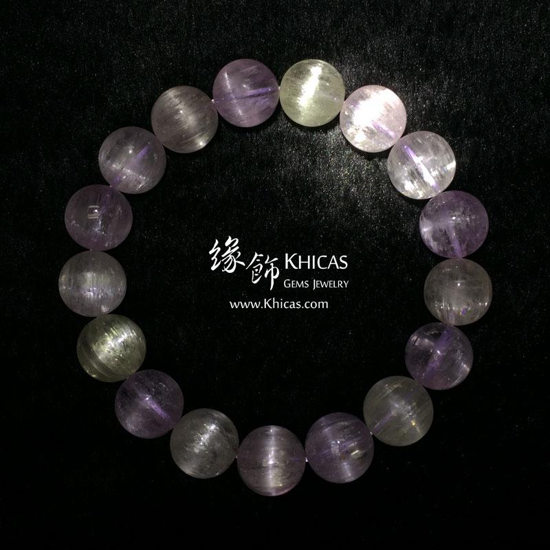 巴西 5A+ 玻璃種貓眼紫鋰輝手串 12mm Kunzite KH142583 Khicas Gems 緣飾