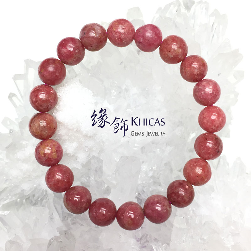 台灣 3A+ 薔薇輝石 / 玫瑰石手串 9.8mm Rhodonite Rose KH142639 @ Khicas Gems 緣飾